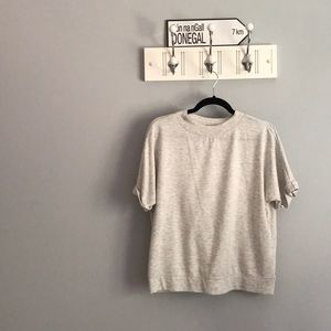 "Short Sleeve ""Sweatshirt"" Shirt"